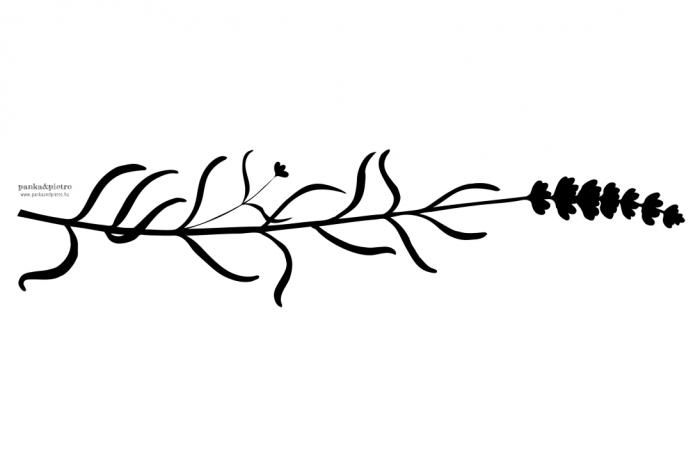 panka&pietro Levendula mintás terítő letörölhető vízálló viaszosvászon